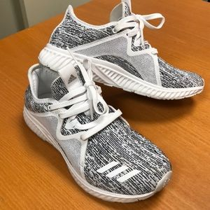 Adidas Edge Lux running shoes in black and white